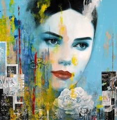 Discover the artwork of Francois Fressinier at Martin Lawrence Galleries. Modern Portrait Artists, Modern Portraits, Abstract Portrait, Abstract Art, Decoupage On Canvas, Painting Wallpaper, Old Master, Mixed Media Canvas, Beautiful Artwork