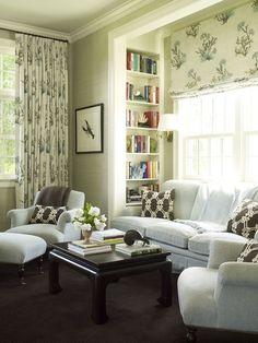 bright room light sofa green hints accessories