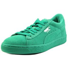 df8ec1e04589ff Puma Suede Jr Youth US 13 Green Sneakers