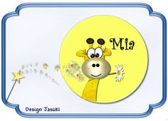 Button Kinder Giraffe, gelb, 43 mm von Jasuki auf DaWanda.com