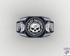 Main Image Jewelry Accessories, Jewelry Design, Rings N Things, Men Stuff, Harley Davidson Motorcycles, Brass Metal, Punk Fashion, Leather Jewelry, Sterling Silver Jewelry