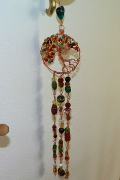 Small wire wrapped Tree of life sun catcher