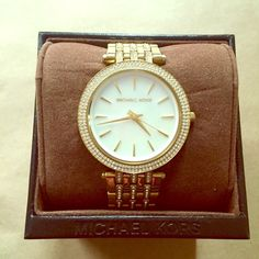 Authentic Michael Kors Women's Darci Gold Watch Authentic Michael Kors MK3190 Women's Darci Gold Stainless Steel Bracelet Watch | signs of wear shown in pics | includes original packaging Michael Kors Accessories Watches