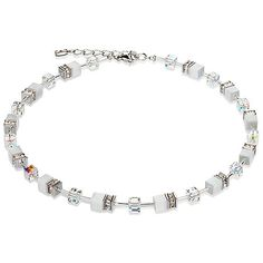 Signature Cube Necklace - White Silver - Coeur De Lion Jewelry $215