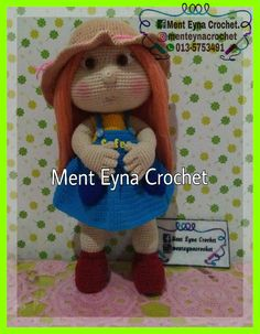 Mia doll Amigurumi.   100% handmade by me, Ment Eyna Crochet. Design and pattern by Havvadesign