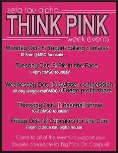 dc6410d2b Sorority fundraising ideas - Think Pink  IdeasToRaiseMoney Delta Kappa  Gamma