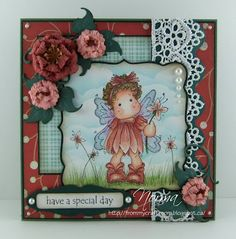 Summer Flower Tilda from Magnolia stamps