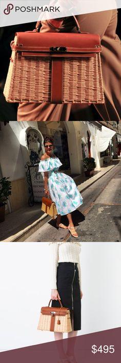 🌴COMING SOON 🌴Hermes Kelly Picnic Barenia Bag Hermes Kelly Picnic Barenia Leather Wicker Basket coming in 2 weeks, preorder. Inspired Hermes Bags Satchels