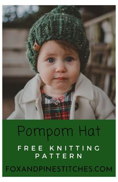 Baby Hat Knitting Patterns Free, Baby Hat Patterns, Baby Hats Knitting, Free Knitting, Loom Knitting, Knitting Ideas, Knit Patterns, Knitting Projects, Easy Knit Hat