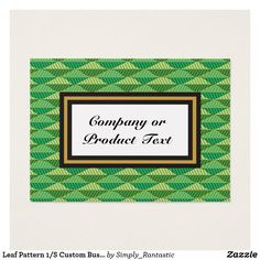 Leaf Pattern 1/S Custom Business/product card