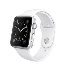 Apple 42mm Smart Watch - Silver Aluminum Case with White Sport Band (Retail Packaging) -- You can get additional details at the image link.