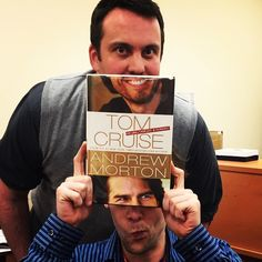April 17, 2015, Tom Cruise at CHPL? Oops, nope, that's just a couple of librarians from our Adult Services department. Happy Friday! #bookfacefriday #chplnj #tomcruise #instabook #bookface #biography #librarylife #bookstagram http://www.chplnj.org/