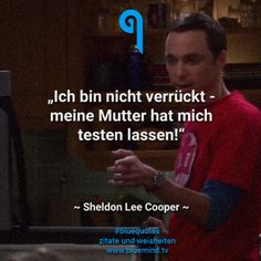 Die besten Zitate von Sheldon Cooper The best quotes from Sheldon Cooper. Movie Quotes, Life Quotes, Nerd Humor, Motivation Goals, Funny As Hell, The More You Know, Big Bang Theory, Bigbang, Good Movies