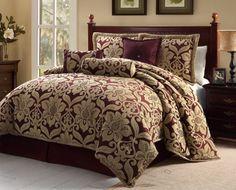 victoria classics Galloway Comforter Set, Queen, Red/Gold, 7-Piece Victoria Classics http://www.amazon.com/dp/B008N7YQWA/ref=cm_sw_r_pi_dp_YXkgub05H96P5