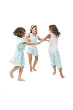 Aqua Ikat Butterfly dress, Amore romper and Larissa pants