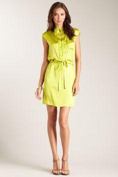 Magaschoni Silk Charmeuse Pocket Detail Dress on HauteLook