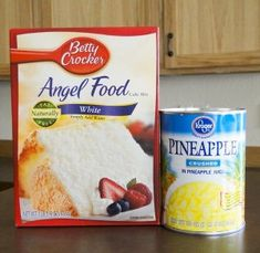 What's dinner without a tasty dessert? If you're looking for a Angel Food Pi. What's dinner without a tasty dessert? If you're looking for a Angel Food Pineapple Dessert, I've got just the Pineapple Angel Food Cake! Angel Food Pineapple Cake, Crushed Pineapple Cake, Strawberry Angel Food Cake, Angel Food Cake Desserts, Angle Food Cake Recipes, Pineapple Desserts, Pineapple Recipes, Dump Cake Recipes, Dessert Cake Recipes