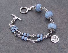 Sterling Silver and Agate Ohm Charm Bracelet Bead Jewellery, Pearl Jewelry, Gemstone Jewelry, Beaded Jewelry, Jewelery, Gothic Jewelry, Indian Jewelry, Crystal Bracelets, Jewelry Bracelets