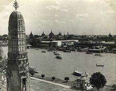 View from Wat Arun 1955     TeakDoor.com