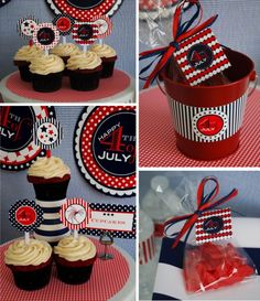 Dots and Stripes Fourth of July Printables by Anders Ruff