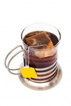 Art Deco Tea Glass and Holder