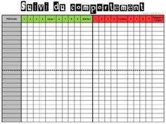 Organisation Classe - Tableau de suivi du Travail et du Comportement