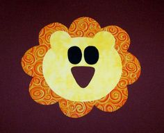 Fabric Applique PDF TEMPLATE Pattern ONLY Lion....New