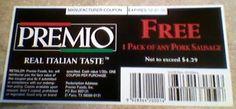Free Premio Sausage Product Coupon w/ recipe submission #freestuff #freebies #samples #free