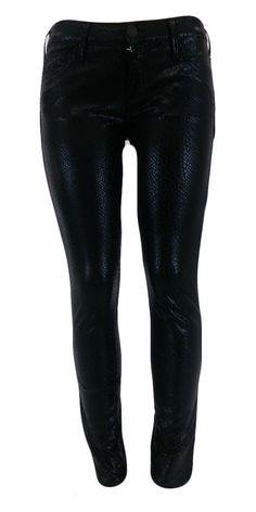 True Religion Women's Casey Python Leggings W3MA942LM1 Black 31