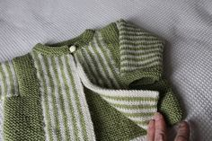 Ravelry: Project Gallery for Sideways-knit striped jacket pattern by Rico Design
