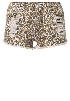 Short vaquero - MINKPINK Zalando ☉ Leopardo