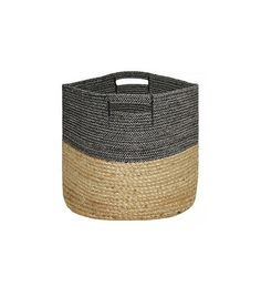Large soft storage basket in jacquard-weave cotton fabric with quilted cotton canvas lining. Diameter 13 in. height 37 cm14 1/2 in.  sc 1 st  Pinterest & Large soft storage basket in jacquard-weave cotton fabric with ...