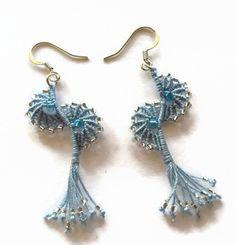 Light blue Angel wings earrings Pantone by LittleFlowerbyGloria