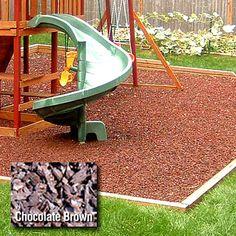 Kidwise Playground 1/2 Pallet Rubber Mulch - Chocolate Brown