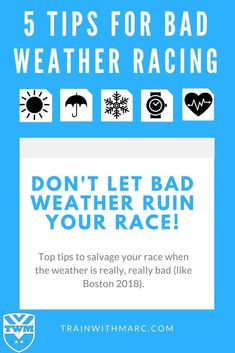 There will be plenty of races in the near future that will have weather similar to Boston 2018's. Don't let a very cold, windy and rainy day ruin your race experience.