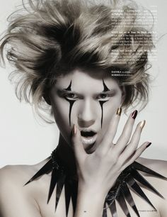 Zink Magazine    makeup as extreme  fashion halloween cirque