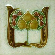 Art Nouveau Ceramic Tile