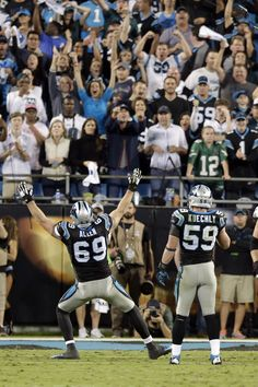 VICTORYYYY | PHIvsCAR Jared Allen and Luke Kuechley....Defensive nightmare