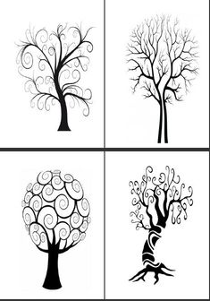Tree drawing - How To Draw A Tree (Step By Step Image Guides) – Tree drawing Tree Drawings Pencil, Art Drawings, Image Guide, Tree Sketches, Atelier D Art, Ecole Art, Bird Tree, Art Plastique, Tree Art