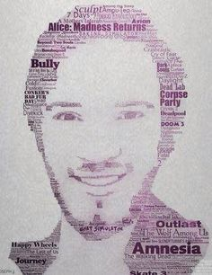 Awesome PewDiePie fan art.>>I love how amnesia is the biggest because he's most known for amnesia