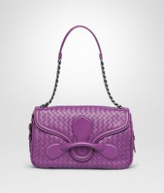 Bottega Veneta Monalisa Intrecciato Nappa Rialto Bag Purple Accessories b769ffac27f27
