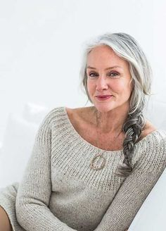 Best Long Hair for Older Women - soft smooth hair in loose braid w flattering long soft layers for fullness and. Smooth shiny hair looks and healthy and therefore younger - yes even if it's grey :)