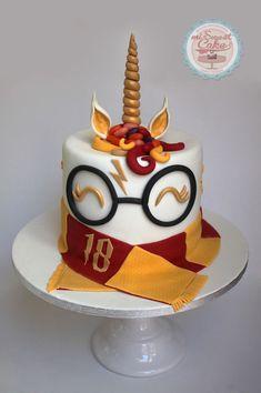 misweetcake ♥ Cake Design: Unicorn Harry Potter Cake / Unicorn Cake Harry P . Bolo Harry Potter, Gateau Harry Potter, Harry Potter Birthday Cake, Harry Potter Food, Harry Potter Theme, Harry Potter Things, Harry Potter Party Games, Harry Potter Cupcakes, Chocolate Decorations