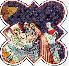 Durante la época medieval las mujeres tenían un monopolio casi absoluto en ginecología y obstetricia. Preparaban brebajes curativos a base de hierbas naturales que ayudaban a reducir el dolor en los partos y otras afecciones.