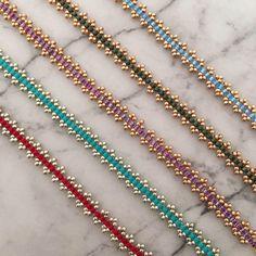 Items similar to Handmade boho glass seed bead bracelets, delicate stacking bracelets on Etsy – Beads Seed Bead Bracelets, Seed Bead Jewelry, Bead Jewellery, Stacking Bracelets, Jewelry Bracelets, Seed Beads, Bugle Beads, Etsy Necklaces, Initial Necklaces