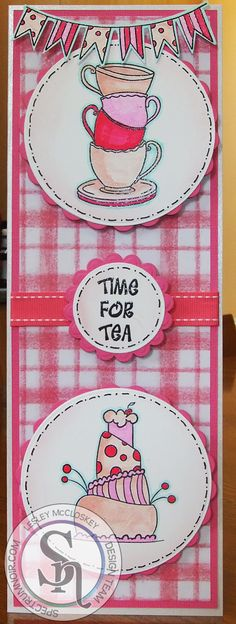 Lesley McCloskey. Crafter's Companion Teatime Treats stamp set. Stamped onto Neenah card. Coloured with @spectrumnoir Sparkle pens - Pink Garnet, Cosmos, Rose Quartz, Moonstone & Crystal Clear. Also used White Centura Pearl, Pink Core'dinations, backing paper from Bebunni Birthdays CD, Die'sire Essentials Circles & Scalloped Circles.#crafterscompanion #spectrumnoir