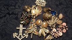 STASH Lot  Broken Rhinestone Jewelry Some Good by ceiltiques