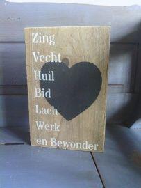 zing, vecht | Tekstborden en sjablonen | The Old Barn www.theoldbarn-andel.nl