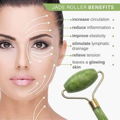 *Jade Roller Natural Anti-Ageing Facial Massager - Body & Mind Yoga *Jade Roller Natural Anti-Ageing Facial Massager - Body & Mind Yoga <br> Try it now, offers ends soon! Improves blood and lymph flow, reduces water retention and improve your skin tone. Natural Beauty Tips, Health And Beauty Tips, Natural Skin Care, Beauty Care, Beauty Skin, Diy Beauty, Jade Rolling, Eyeliner Make-up, Pele Natural