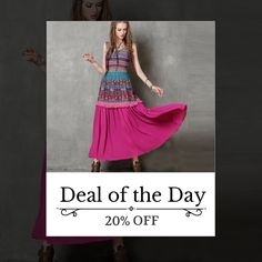 Today Only! 20% OFF this item. Follow us on Pinterest to be the first to see our exciting Daily Deals. Today's Product: Sale -  Maxi Skirt With Floral Print Buy now: http://www.urbanforlife.com/products/maxi-skirt-with-floral-print?utm_source=Pinterest&utm_medium=Orangetwig_Marketing&utm_campaign=Daily%20Flash%20Sales #musthave #loveit #shop #shopping #onlineshopping #photooftheday #picoftheday #love #sale #dailydeal #dealoftheday #todayonly # #fashionstyle #womensfashion #womenswear…